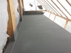 deck sprayed